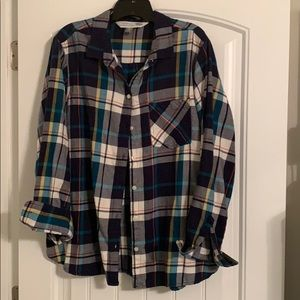 Old Navy plaid button up.